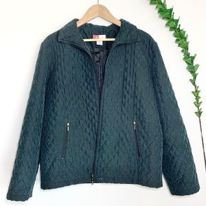 JM Collection Quilted Full Zip Jacket